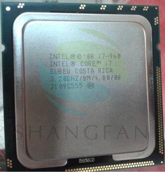 Free shipping Original Intel Core I7 960 SLBEU Processor 3.2GHz Quad Core LGA 1366 130W 8M Cache Desktop i7-960 CPU