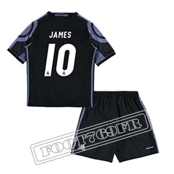 Personnalise Maillot De James 10 Real Madrid Enfant Noir/Violet 2016 17 Third : La Liga