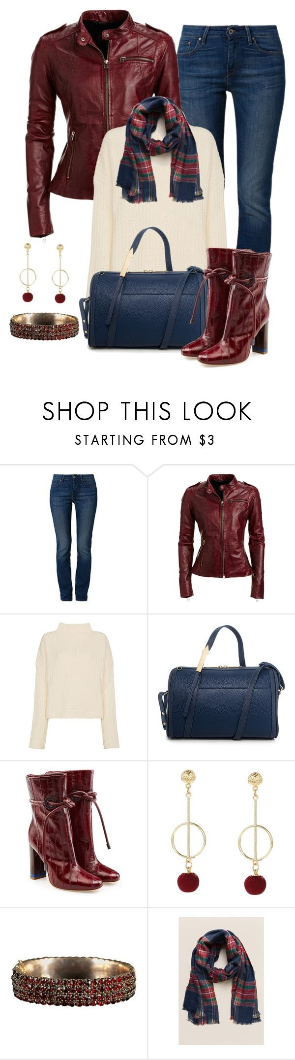 """""""Untitled #1592"""" by gallant81 ❤ liked on Polyvore featuring Levi's, Danier, Simon Miller, Joshua's, Malone Souliers and Francesca's"""