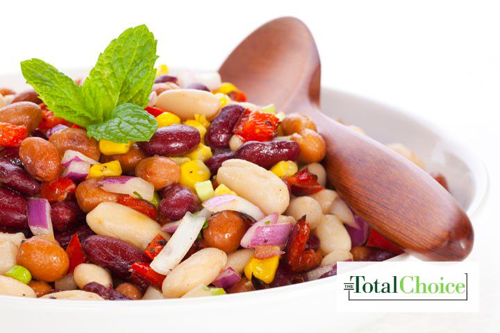 Total Choice Fiesta Bean Salad: Spice up your meal with this bowl full of flavor and nutrients. Eat this recipe on the Total Choice 1200-calorie plan.