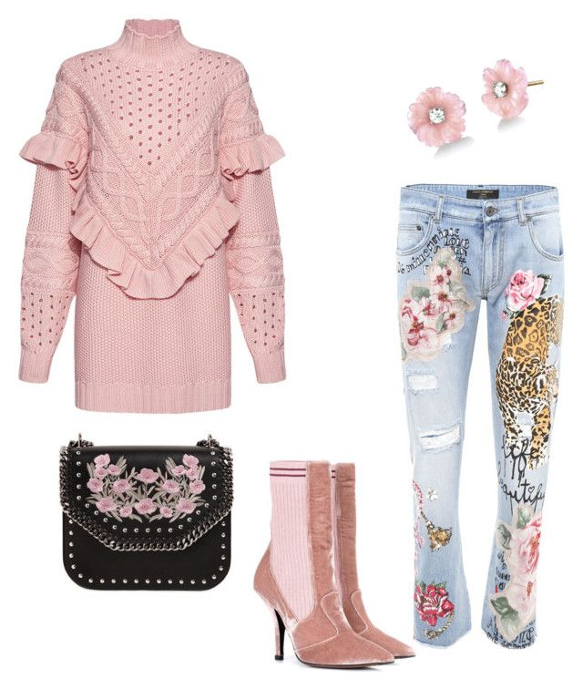 """""""Untitled #48"""" by irini-stam on Polyvore featuring Mother of Pearl, Dolce&Gabbana, Fendi, STELLA McCARTNEY and Irene Neuwirth"""