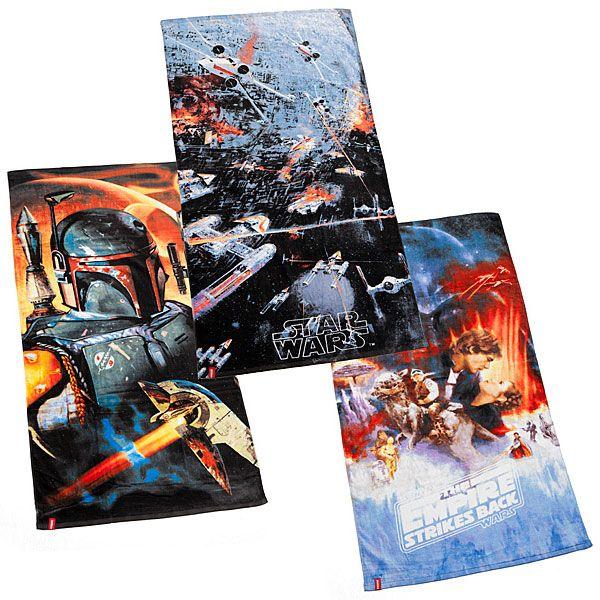 Star Wars Boba Fett, Empire Strikes Back, and Death Star Battle Beach Towels