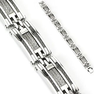 Brand SPIKES Uniquie combination of  Polished Stainless Steel, Carbon Fiber and wire Inlay http://lily316.com.au/shop/bracelets-mens-stainless-steel/stainless-steel-bracelet-carbon-fiber-and-wire-inlay/