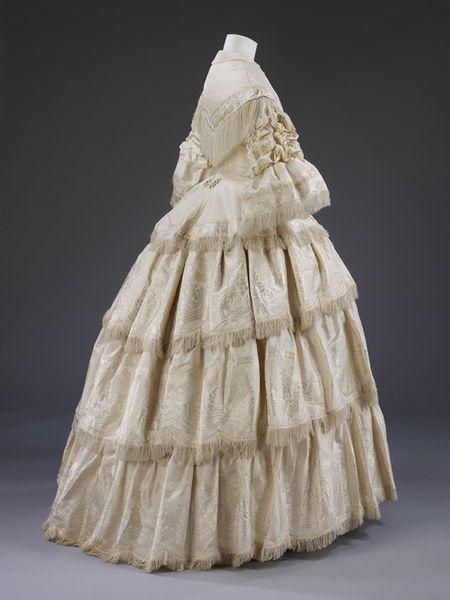 Wedding Dress, 1857 | In the Swan's Shadow