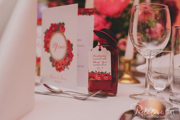 Projekt Ślub: Góralskie wesele - elegancka papeteria ślubna w stylu ludowym