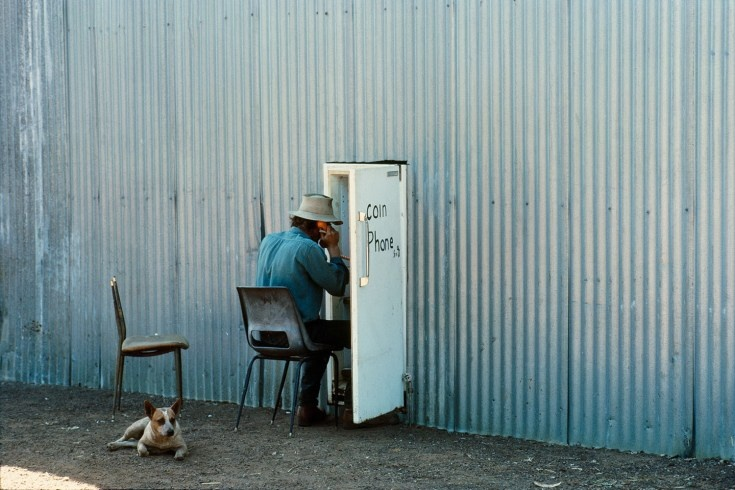 Sam Abell Phoning for Spare Parts, Drysdale River Station, Kimberley   Australia