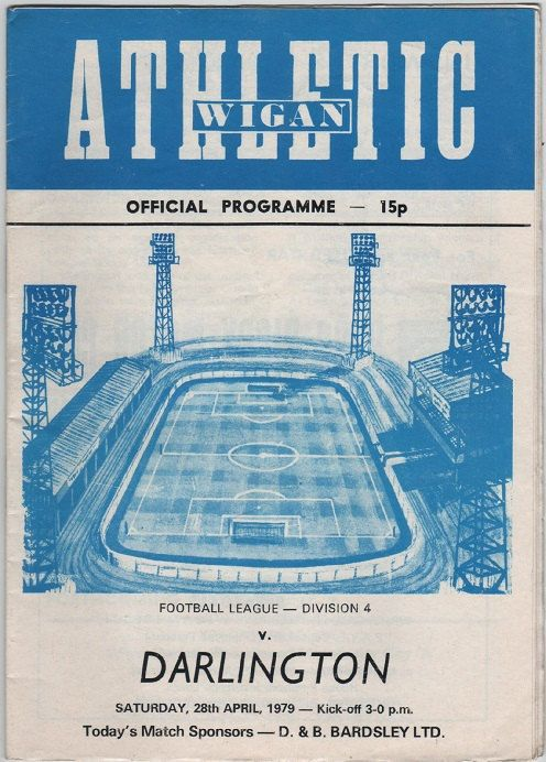 Vintage Football Programme - Wigan Athletic v Darlington, 1978/79 season, by DakotabooVintage, £3.99