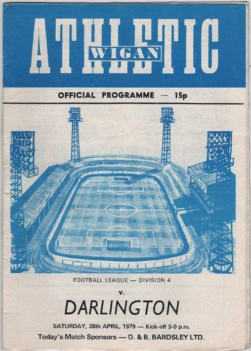Vintage Football Programme - Wigan Athletic v Darlington, 1978/79 season, by DakotabooVintage, £3.99