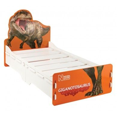 The Kidsaw Gigantosaurus Bed is a cool bed for kids who love dinosaurs. With a ferocious Gigantosaurus on the Head board and foot board this great design from the Natural History Museaum is sure to be loved by boys who love dinosaurs.