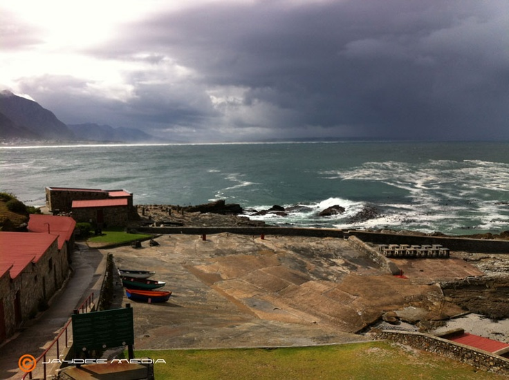 Winters day in Hermanus, old harbour