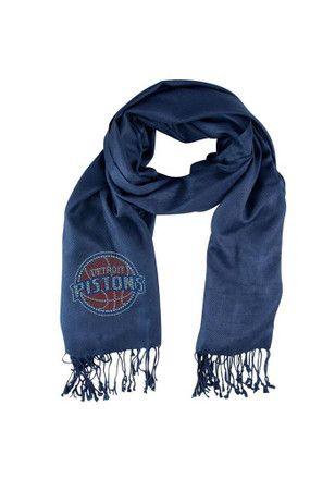 Detroit Pistons Jewel Logo Pashi Womens Scarf