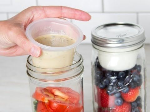 This creates a separate compartment in a Mason Jar so you can keep your dressing/dip/etc. separate until you are ready to eat!!! Brilliant! BNTO - Canning Jar Adaptor