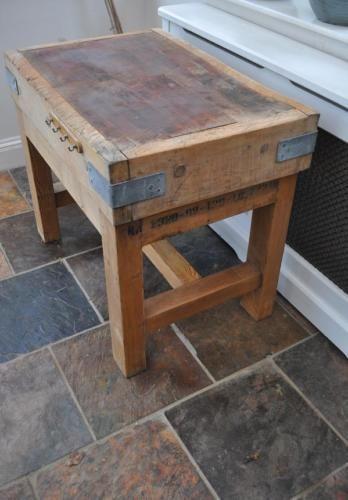 Genuine-antique-traditional-butchers-chopping-block-vintage-kitchen-item