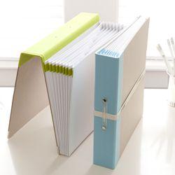 Russell+Hazel Expanding Binder File #organization #homeoffice
