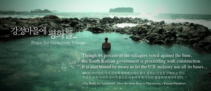 Peace for Gangjung Village !!