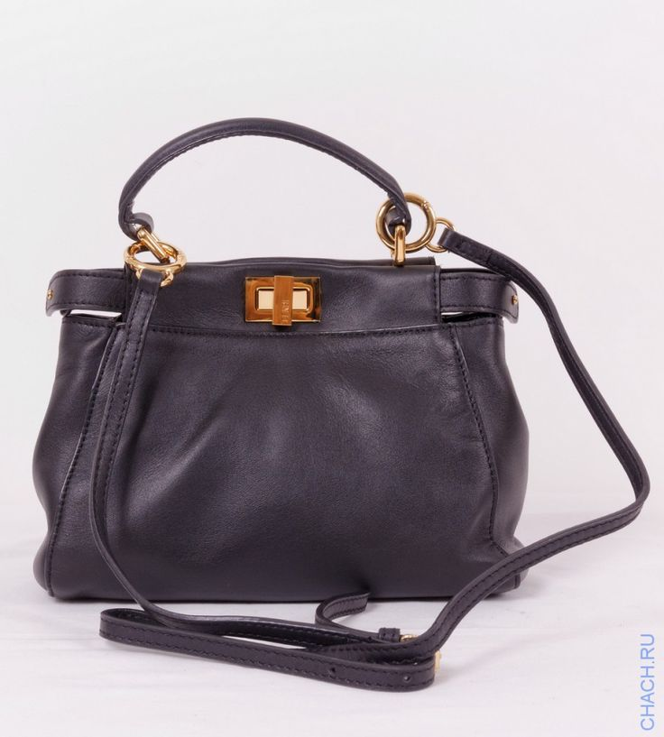 Небольшая сумка Fendi Peekaboo Mini черная