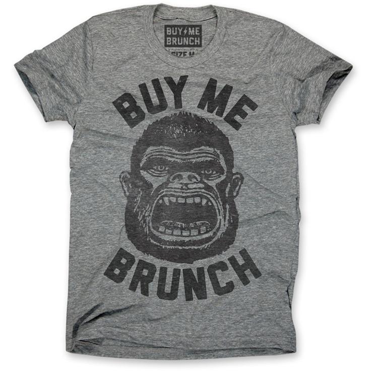 Fab.com | Buy Me Brunch Ape Tee Men's Gray