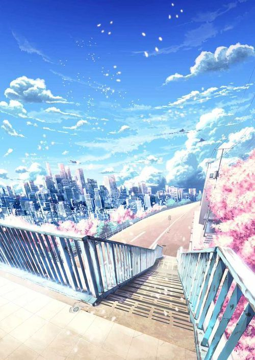 grafika anime, art, and scenery