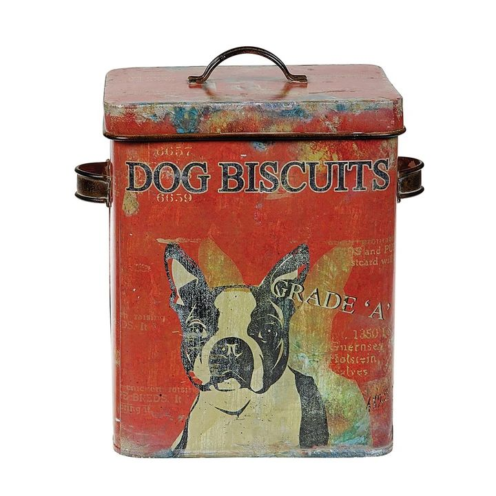 Dog biscuit container w lid in 2020 dog treat container