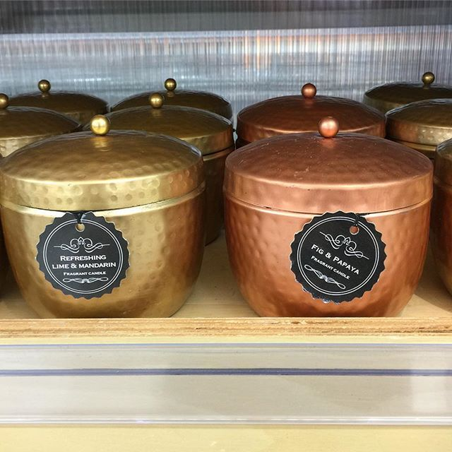 New Brass candle! $6! Lime and Mandarin! Found at Mt Ommaney!  @mtommaney…