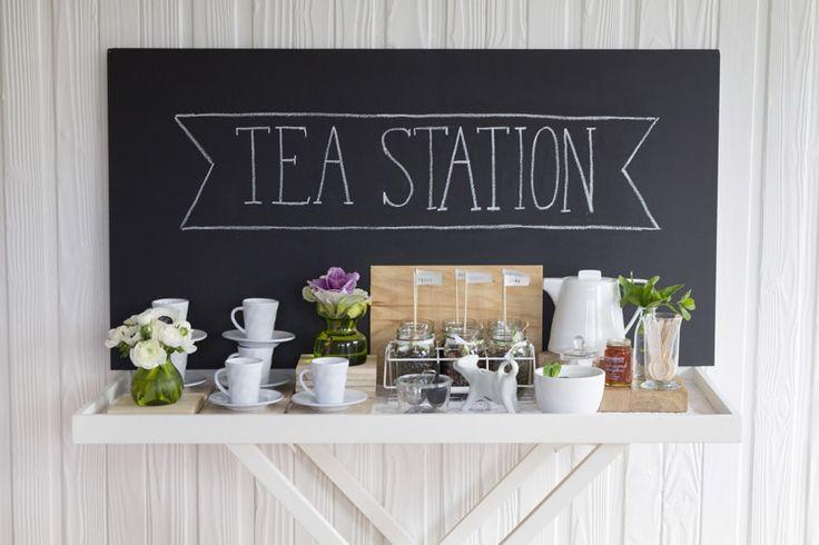Tea Station- Food + Drink Stations via Loulou + Jones