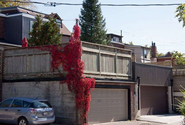 Roncesvalles Accessible House - Access to rear of the house through the at-grade garage below the back deck.