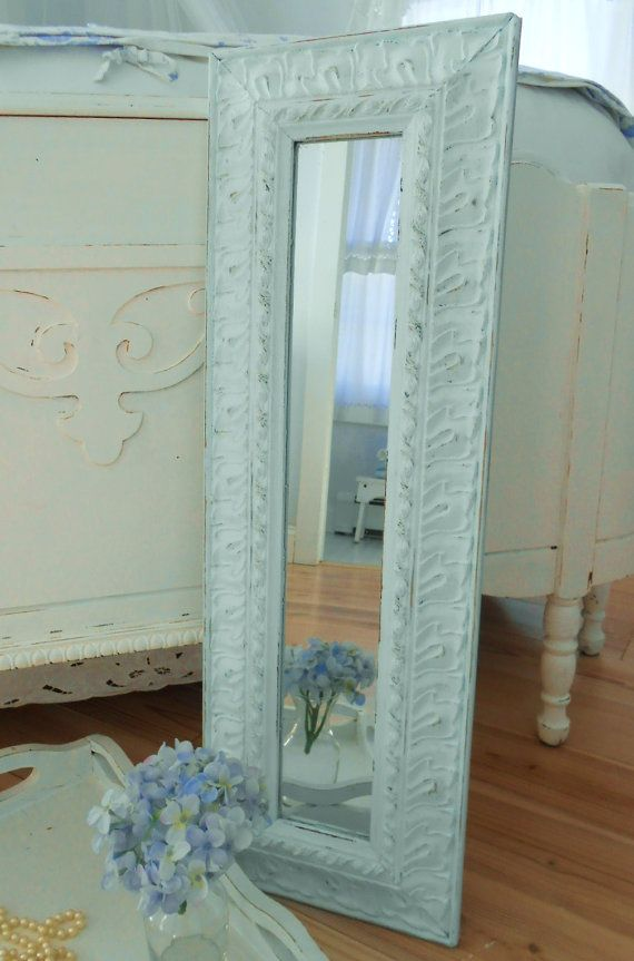 SOLD   Mirror shabby chic furniture by backporchco on Etsy, $42.00