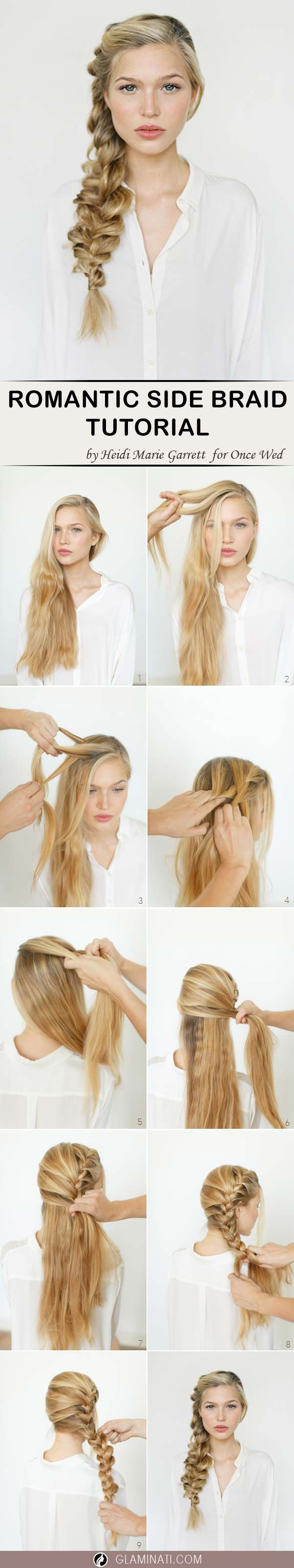 Big French side braid will instantly make you look like a diva. You may see a lot of girls wearing it. Practice this easy hairstyle with our tutorial.