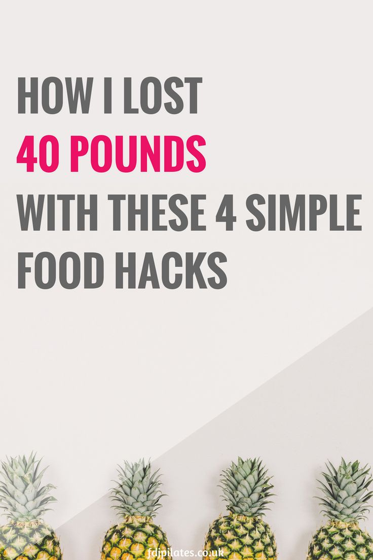 Before I start giving you the total low down on everything I ate to lose 40 pounds, I thought I'd introduce you to 4 extremely simple food hacks that will help you to drop the pounds… 1 step at a time, remember. :)