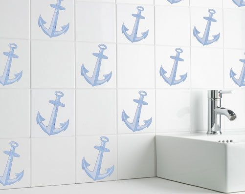tile transfers kitchen self adhesive nautical bathroom tile transfers bath shower 2778