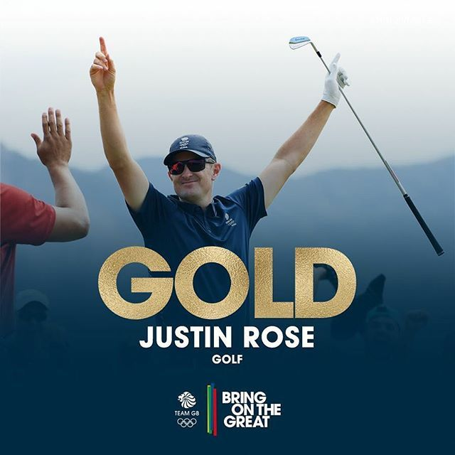 #‎Gold‬! @justinprose99 iceman, legend, ‪#‎HistoryMaker‬! ‪#‎Rio2016‬ ‪#‎Golf‬Olympic Champion! Just ecstatic! ‪#‎BringOnTheGreat‬