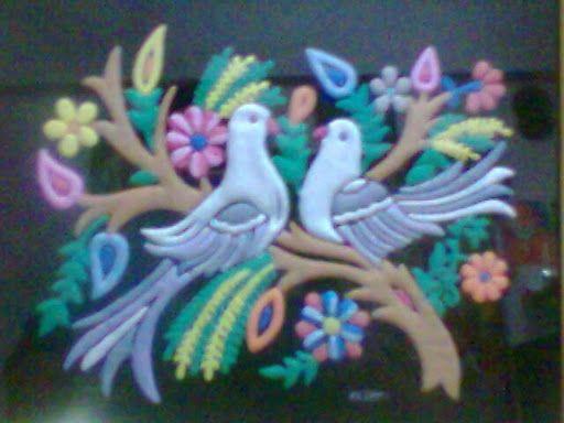 Emboss Painting-Love Birds