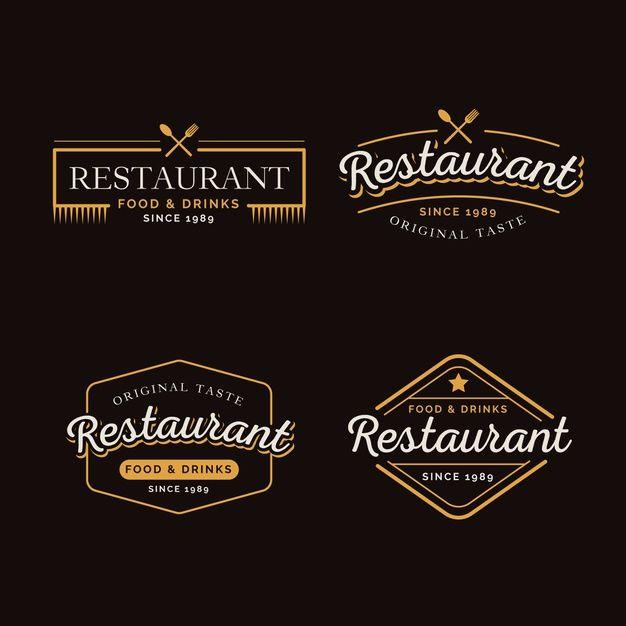 Download Restaurant Retro Logo Collection For Free In 2020 Logo Restaurant Restaurant Logo Design Retro Logo