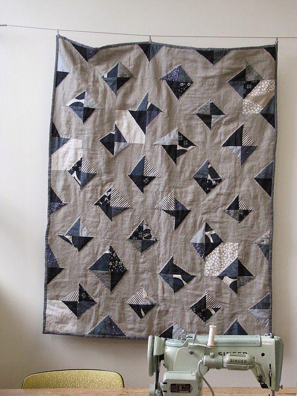 The Drapery: indigo and linen quilt - a mini tutorial!