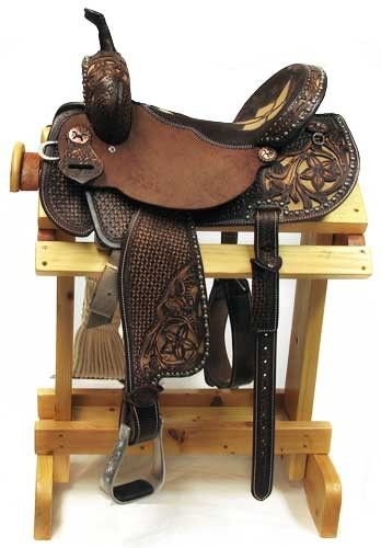 Double J Saddlery Vintage Brown Barrel Saddle   AA Callisters ... $4,000.