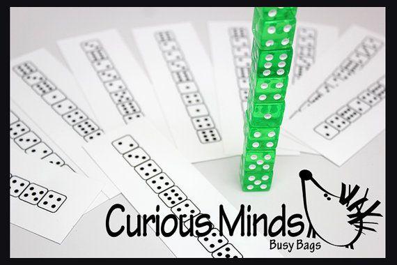 BeschäftigtBag Würfel Muster  Anzahl von CuriousMindsBusyBags, $9.00