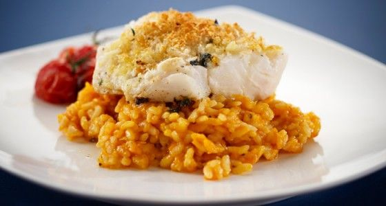 Breville, Cod with Parmesan Crust and Tomato Sauce  #Fish #Mediterranean #Main #Frying