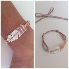 « Le petit bracelet #plume pour @bytatouninette miyuki #brickstitch #liberty #betsy »