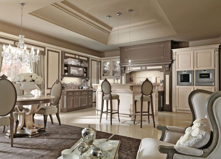 Harmonious shapes along with decorative elements make Martini's creations elegant and fascinating.  http://www.martinimobili.it/it/collezioni-cucina-lusso.html