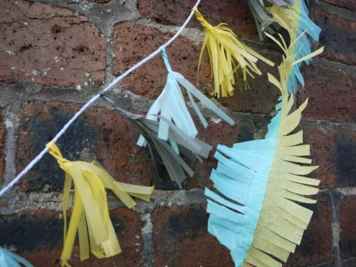 Ragnar tiny tassels and fringe! Handmade paper party decorations by Paper Street Dolls  Check out our store - paperstreetdolls.etsy.com