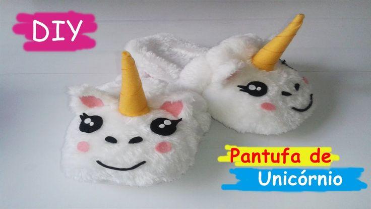 DIY: Como fazer Pantufas de Unicórnio - Unicorn Slippers