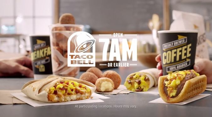View the latest Taco Bell breakfast hours and menu below. While many of us already know Taco Bell's lunch and dinner hours, not many know about the new Taco Bell breakfast hours. Taco Bell...