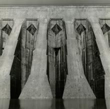 Particolare della diga Aem di San Giacomo, Valtellina. Adolfo Ferrari, 7 agosto 1970,  Archivio storico fotografico Aem, Fondazione Aem, Milano