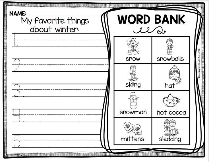 Writing Lists Kindergarten Freebie Printable Kindergarten Writing Lessons Kindergarten Writing Lesson Plans Writing Lesson Plans Snowy make word freebie for kinders