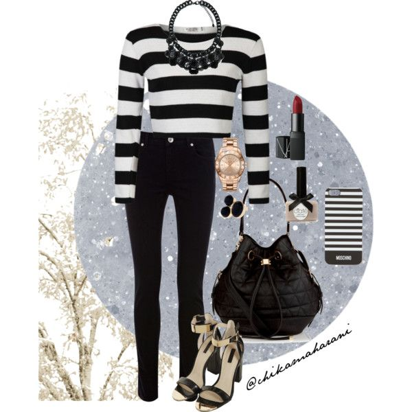 #black and #white #stripe #outfit