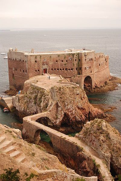 Fort of the Berlangas (Fort of St. John the Baptist of the Berlangas) is on an island of the archipelago Berlengas off the coast of Portugal.  by StaraBlazkova