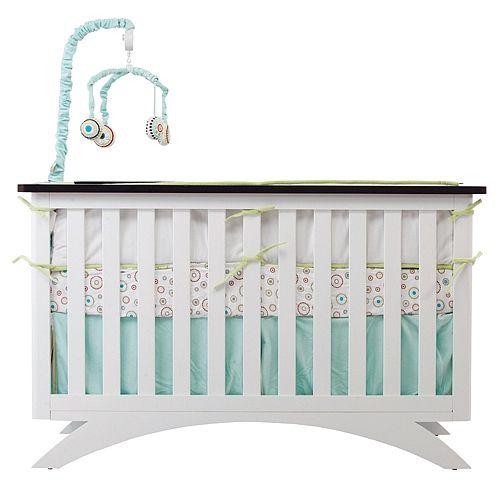 Shermag Capri Convertible Crib White Shermag Babies