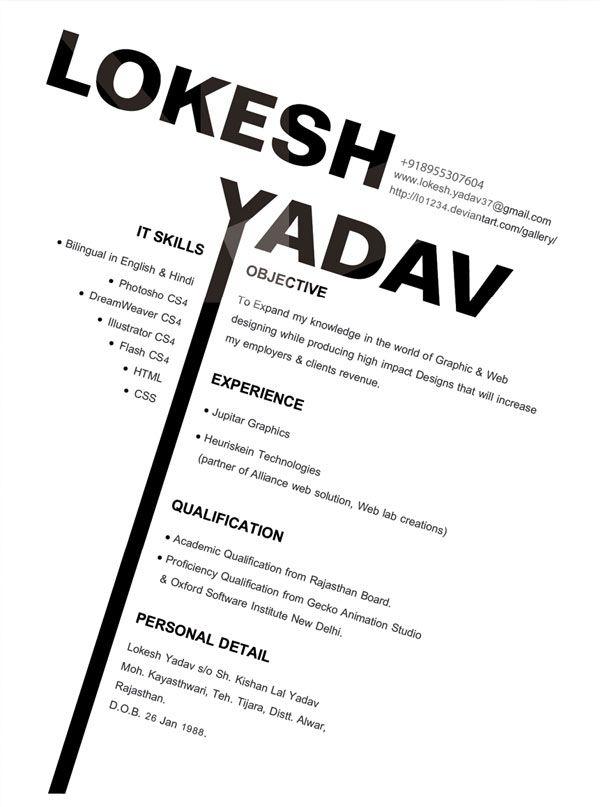 Graphic Design Resume Ideas | Designs with Emotions: Graphic Design Resume
