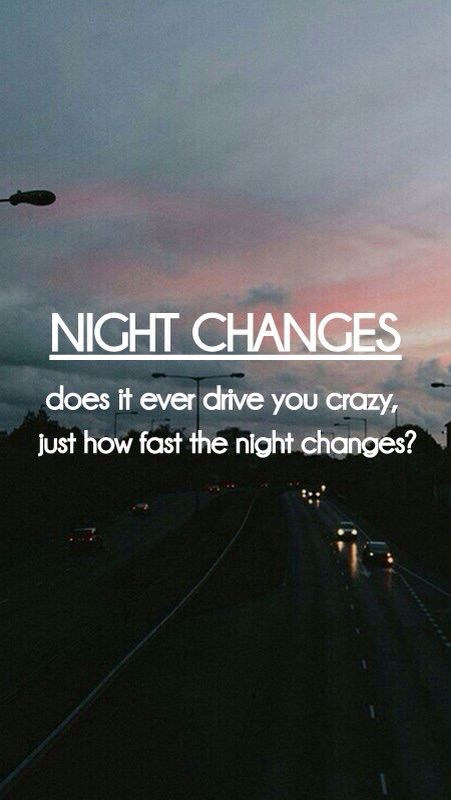 One Direction Lyric Quotes Night Changes