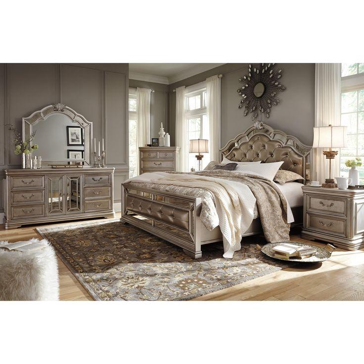 birlanny california king bedroom groupsignature designashley | silver bedroom